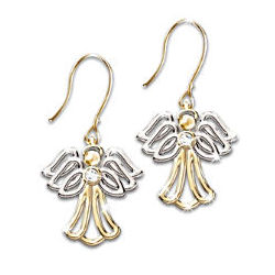 My Dear Granddaughter Angel Diamond Earrings