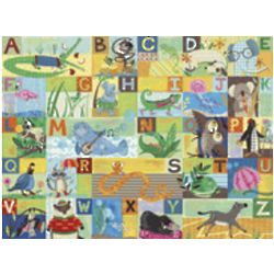 ABC Animal Action Wall Art Canvas Reproduction