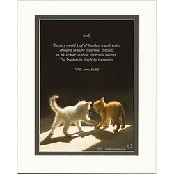 Friendship Poem Personalized Kittens Playing Print