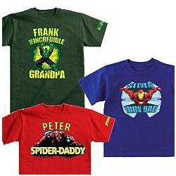 Personalized Marvel Comics Super Hero Adult T-Shirt
