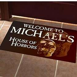 Personalized House of Horrors Doormat