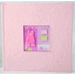 Pink 200 Photo Baby Album
