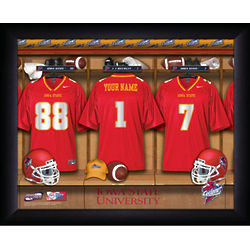 Personalized Iowa State Cyclones Football Locker Room Print