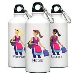 Personalized Go Girl Shopper Water Bottle