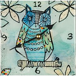 Blue Owl Square Desk Clock