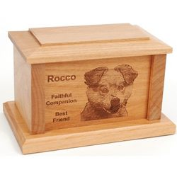 Personalized Small Maple Pet Urn for Cat or Dog