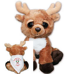 Personalized Candy Canes Reindeer Stuffed Animal