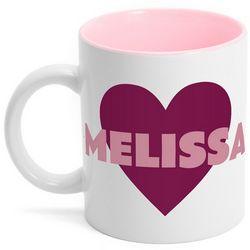 Name Heart Mug