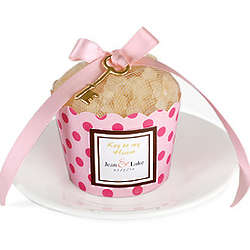 Key To My Heart Bath Salts Cupcake Favor