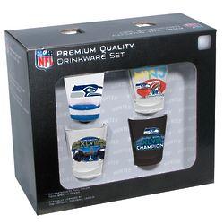 Seattle Seahawks Super Bowl XLVIII Champions Shot Glass Set