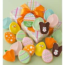 Easter Fancy Decorated Cookies Gift Box