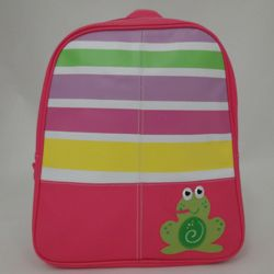 Pink Frog Personalized Vinyl Backpack