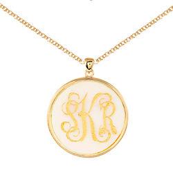 Birthday Diva Acrylic Personalized Monogram Gold Bezel Pendant