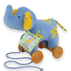 Velour Elephant Pull Toy