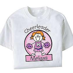 Personalized Girls Cheerleader T-shirt