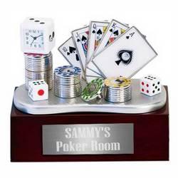 Poker Table Clock Set