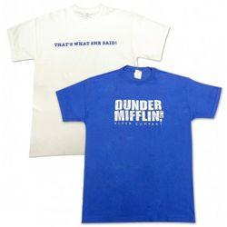 The Office That's What She Said and Dunder Mifflin Logo T-Shirts