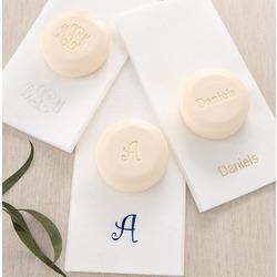 Elegant Monogram Guest Soap and Towel Set