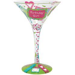 Birthday Girl Too Martini Glass