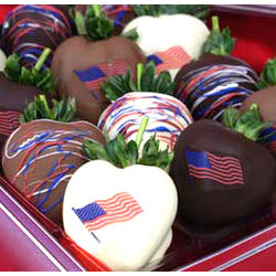 4 Dozen Patriotic Chocolate Strawberries