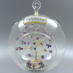 Personalized Birthstone Ornament