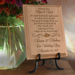 Personalized Thank You On My Special Day Wooden Plaque