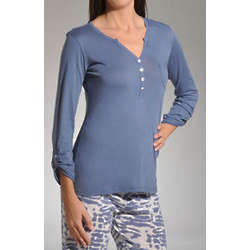 All Tied Up Henley Pajama Top