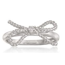 CZ Sterling Silver Bow Ring