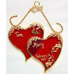 Personalized Stained Glass Sweethearts