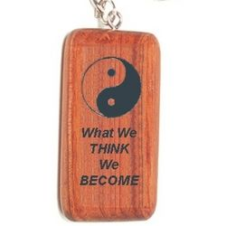 Personalized Solid Rosewood Keychain