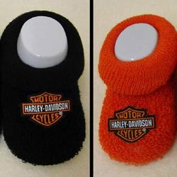 Harley Davidson Baby Booties