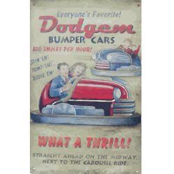 Dodgem Nostalgic Tin Sign