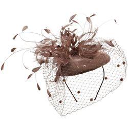 Veiled Velvet Bouquet Fascinator Hat
