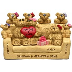 Couple with Kids Personalized Bear Figurine