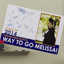 Graduation Excitement Personalized Signature Poster