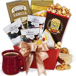 Coffee and Sweets Christmas Gift Basket