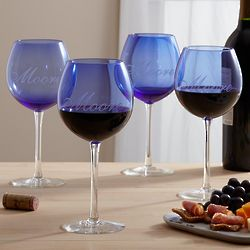 Personalized Balloon Wine Glasses