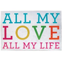 All My Love Box Sign