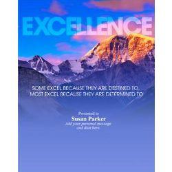 Excellence Mountain Infinity Award Plaque