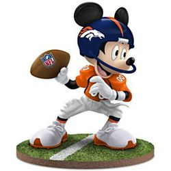 Mickey Mouse Denver Broncos Quarterback Hero Figurine