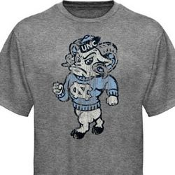 North Carolina Tar Heels Mascot Distressed T-Shirt