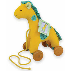 Velour Giraffe Pull Toy