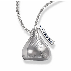 Sterling Silver Hershey's Kiss Necklace