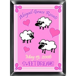 Personalized Girl's Counting Sheep Room Sign