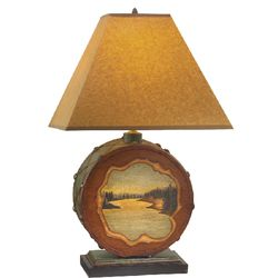 Bear Creek Drum Table Lamp