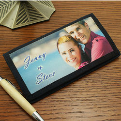 Personalized Photo Checkbook Wallet
