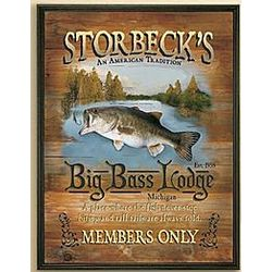 Personalized Big Bass Lodge Canvas