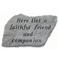 Here Lies A Faithful Friend Pet Memorial Stone