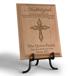 Personalized Hallelujah Wooden Plaque