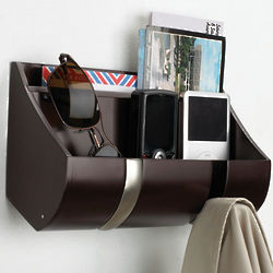 Cubby Wall Organizer with Coat Hooks